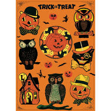 halloween vintage style poster vintage style paper retroplanet com