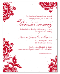 mehndi card wording mehndi ceremony invitations on plantable paper holi by