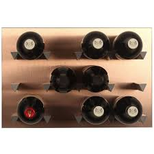 vinowall 12 bottle wall mounted wine rack brushed copper the