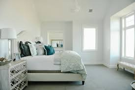 Light Blue And White Bedroom Camelback Headboard Transitional Bedroom Davies Development