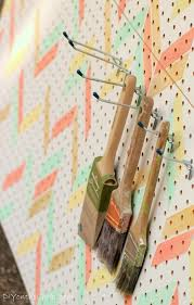 herringbone stenciled pegboard erin spain