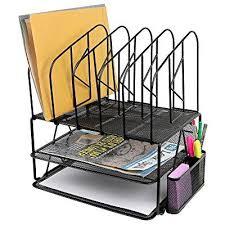 Desk Sorter Organizer Greenco Mesh 2 Tier Desk File Organizer Shelves With 5 File Sorter