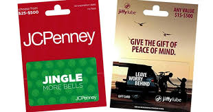 gift card offers discounted gift card offers jiffy lube jcpenney gamestop more