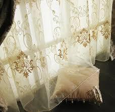 amazon com decorative modern golden antiquewhite sheer window