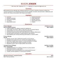 Marketing Manager Resume Sample by Product Line Manager Resume Resume For Your Job Application