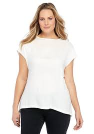 shell blouse plus size knit and woven shell blouse the limited