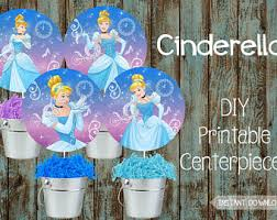 Cinderella Centerpieces Cinderella Cupcake Toppers For Cinderella Birthday Party In