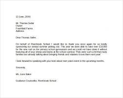 free sponsorship letter donation request letters letter for