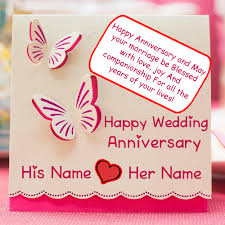 wedding wishes dp write name on happy wedding anniversary greeting card pictures