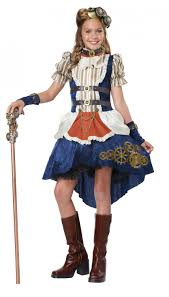 steampunk fashion victorian punk rock child tween costume
