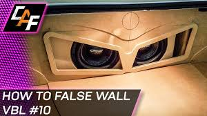 how to make a fiberglass subwoofer box 19 steps with pictures building car audio false wall subwoofer box trunk build