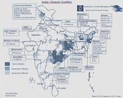 South India Map by India Conflict Map