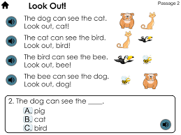 kindergarten reading passage reading comprehension passages with choice questions