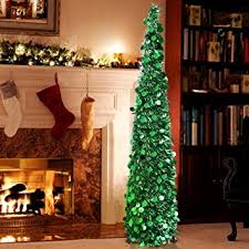 aytai pop up tree 5ft artificial tinsel collapsible