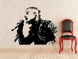 corey taylor slipknot stickers music wall vinyl decals home details about my wall stickers