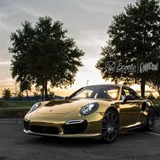 porsche vinyl gold chrome porsche 911 turbo s exotic vehicle wraps white