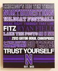 northwestern university nu football canvas art print gift home