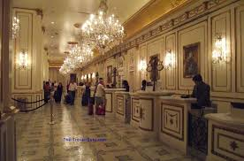 Paris Las Vegas Interior Two Hotel Lobbies And A Bathroom In Las Vegas The Travel Guru