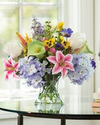 flower arrangements table fascinating nature inspired silk flower arrangements at