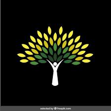 abstract green tree logo vector free