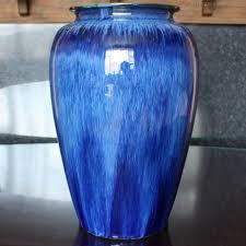 Denby Vase Pottery Antiques Atlas Electric Blue Bourne Denby Danesby Ware Vase