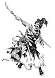 drawn samurai samurai warrior pencil and in color drawn samurai