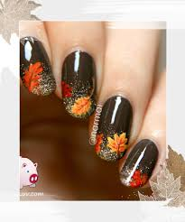 glitter gradient nail 18 thanksgiving and fall nail ideas