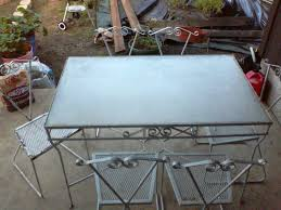 Patio Table Legs Replacement Parts by Restoring Chairs Wrought Iron Outdoor Furniture All Home Decorations