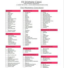 wedding checklist bright and modern plan a wedding in 4 months planning checklist by
