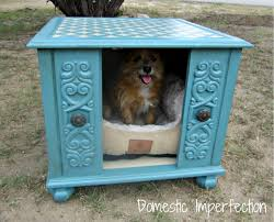 end table dog bed diy end table dog house both domestic imperfection