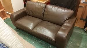 Leather Sofa Used Cheap Brown Leather Sofa Home And Textiles