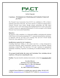 Reference Provided Upon Request Vacancies U2013 Pact Protected Areas Conservation Trust