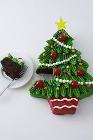 Tree Decorations For Cakes Piped Buttercream Christmas Tree Cake Tutorial Cakegirls