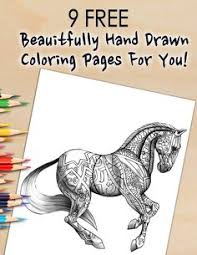 free pdf bonus coloring pages of beautiful horses for you to