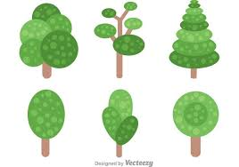 simple vector tree icons free vector stock