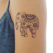 19 elephant henna tattoos