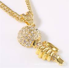 aliexpress buy men jewelry high quality 2014 new online shop set auger microphone bling pendants necklace high