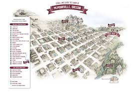 Astoria Oregon Map by Winery Route Suggestions