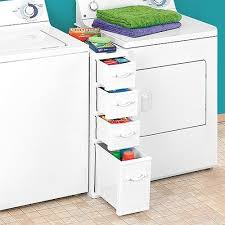 Laundry Room Storage Between Washer And Dryer Wicker Laundry Organizer Between Washer Dryer Drawers Home