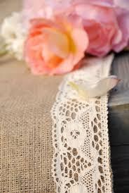 Burlap Wedding Aisle Runner Aisle Runner Crochet Ivory Lace Trimmed Burlap Wedding Aisle