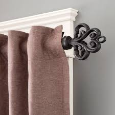 Ikea Curtain Rod Decor Decor Brown Marburn Curtains With Black Target Curtain Rods And