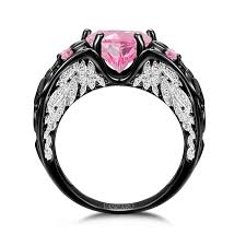 vancaro engagement rings vancaro angel wing collection black and pink engagement ring for