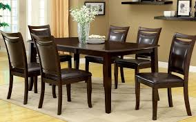 Large Wood Dining Room Table Amazon Com Furniture Of America Carlson 7 Piece Dining Table Set