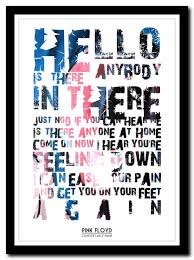 Lyrics For Comfortably Numb Pink Floyd Comfortably Numb Lyric Poster Typography Art