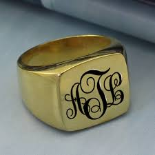 Monogram Rings Gold Online Get Cheap Monogram Gold Ring Aliexpress Com Alibaba Group
