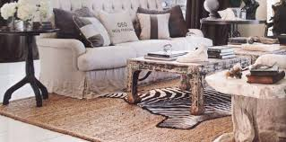vintage african living room decor with white sofa and vintage