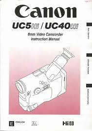 canon camcorder uc 5 hi user guide manualsonline com