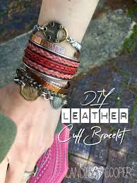 leather jewelry cuff bracelet images Ride 39 em cowgirl make an inlaid leather cuff bracelet candie cooper jpeg