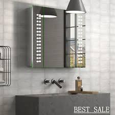 illuminated demister bathroom mirrors 60 x led illuminated bathroom mirror cabinet shaver demister