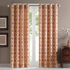 Orange And Brown Curtains Buy Orange Window Treatments Curtains From Bed Bath Beyond